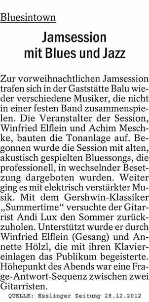 Artikel Esslinger Zeitung