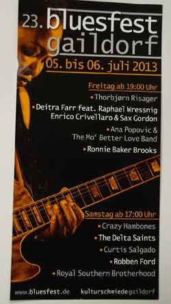 Bluesfest Gaildorf 2013