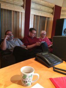 Ingrid, Heinrich und Andi im Studio